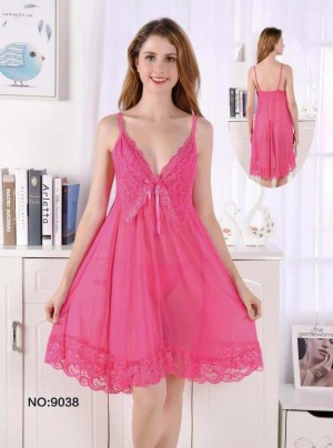 Lingerie Elegan Pakaian Dalam Sleepwear 71949102 Hotpink