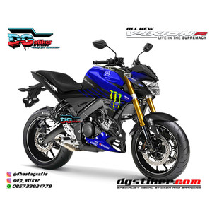 Decal Sticker All New Vixion R Hitam Biru Livery GP 2019 DG Stiker