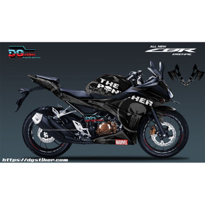 Decal Striping CBR150R Hitam Punisher DG Stiker