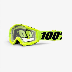 100% Accuri Goggles Yellow Fluo With Clear Lens
