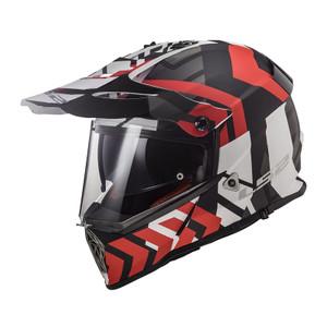 LS2 MX436 Pioneer Xtreme Matt Black Red Size XL