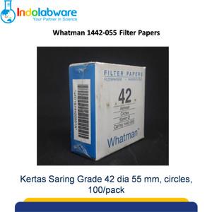 Whatman Kertas Saring 1442-055 Grade 42 Circles, 55mm|Filter Paper