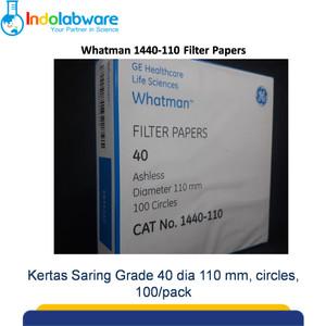 Whatman Filter Paper 1440-110 Grade 40, 110mm 100/pk|Kertas Saring