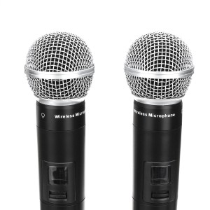 EPXCM A-666 UHF Wireless 2Ch Handheld Mic Cardioid Microphone