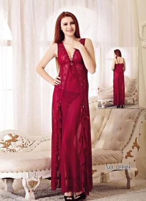 Sexy Lingerie Sleepwear Elegan Pakaian Dalam Murah 71744137 Maroon