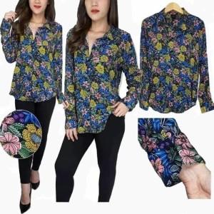 Wortington Kemeja Kerja Floral Wanita Pakaian Branded Murah Original