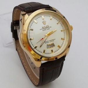 Jam Tangan Pria Rolex Oyster Ring Gold Plat Putih
