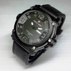 Jam Tangan Pria Swiss Army Date Leather