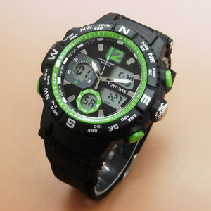 JAM TANGAN PRIA FORTUNER ORIGINAL TAHAN AIR BLACK GREEN