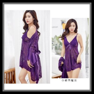 Lingerie Kimono Elegan Baju Tidur Pakaian Dalam 71957155 Purple