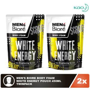 Men'S Biore Body Foam White Energy Pouch 450mL Twinpack