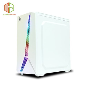 CUBE GAMING VAZEEN WHITE - SIDE TEMPERED GLASS