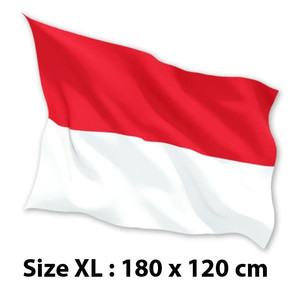 FLASH SALE BENDERA INDONESIA MERAH PUTIH 180 x 120cm XL Satin 100%