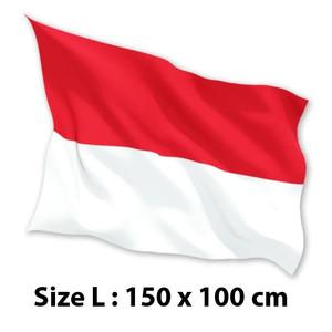 FLASH SALE BENDERA INDONESIA MERAH PUTIH 150 cm x 100 cm L Satin 100%