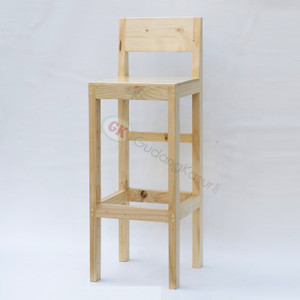 Kursi bar/ Bangku bar kayu tinggi /kursi cafe stool