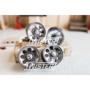 Boom Racing 1.55 Terra Classic 8-Hole Beadlock Wheels 4pcs - GUNMETAL