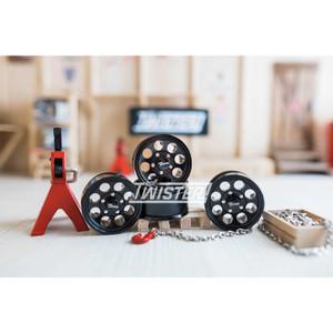 Boom Racing 1.55 Terra Classic 8-Hole Beadlock Wheels 4pcs - BLACK