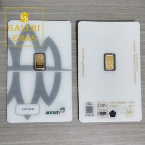 Emas logam mulia Antam 0,5 gram baru