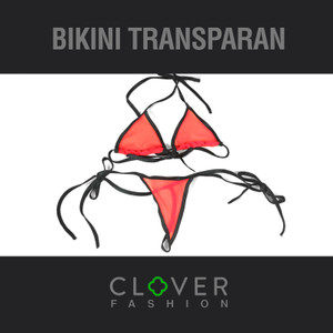 Bikini Transparan Lingerie Transparan Micro Bikini Thong Bra Set
