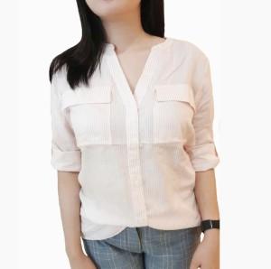 Bon Worth Blouse Shirt Stripe Pakaian Wanita Branded Original Murah