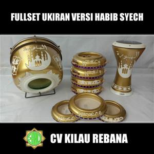 Rebana Jepara Fullset Ukiran Versi Habib Syech Murah