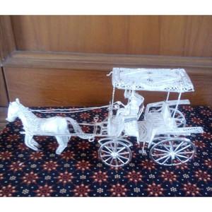 Souvenir Miniatur Andong (1 Kuda) Silver khas Kotagede Yogya