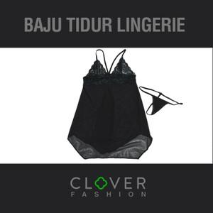 Lingerie Sexy Transparan Babydoll Black Seserahan + Gstring