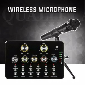 V10 Soundcard Usb Wireless with Remot