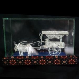 Souvenir Miniatur Gerobak Sapi Silver khas Kotagede Yogya