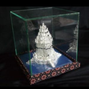 Souvenir Miniatur Candi Prambanan Silver khas Kotagede Yogya
