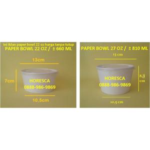 Jual Paper Bowl Mangkok Kertas Size 660 Ml 22 Oz 50 Pcs Pola No Tutup Jakarta Utara Horesca Tokopedia