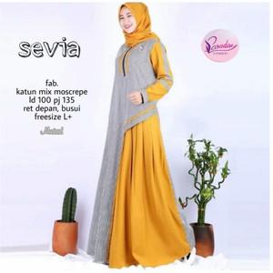 FASHION DRESS MUSLIM SEVIA DRESS