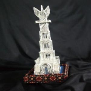 Miniatur Tugu Jam Gadang Silver Khas Kotagede Yogyakarta