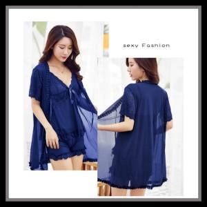 Lingerie Kimono Baju Tidur Pakaian Dalam 71914162 Royal Blue