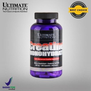 Creatine Monohydrate, 900 mg, 200 Caps - Ultimate Nutrition Official