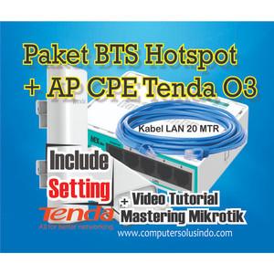 Paket BTS Hotspot Dengan Ap Outdoor CPE Tenda O3