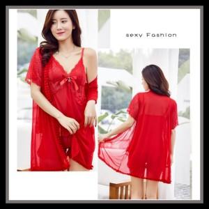 Lingerie Kimono Elegan Baju Tidur Pakaian Dalam 71914162 Red