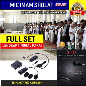 Mic Imam Wireless Headset 2.4G Microphone tanpa kabel