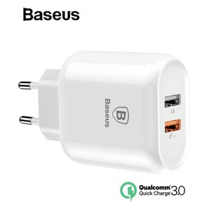 Baseus QC 3.0 Dual USB Charger Adapter EU Plug Quick Charge Charger
