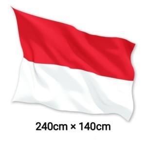 FLASH SALE BENDERA INDONESIA MERAH PUTIH 240 x 140cm Bahan Satin 100%