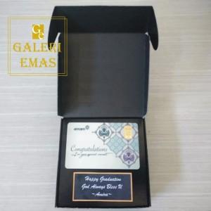 Emas logam mulia Antam gift series congratulation 1 gram+kotak box