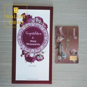 Emas logam mulia antam gift series happy wedd 1 gram+amplop pernikahan