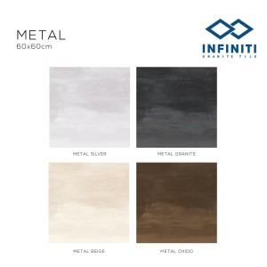 Granit Infiniti Granite Tile Metal Series 60x60 cm