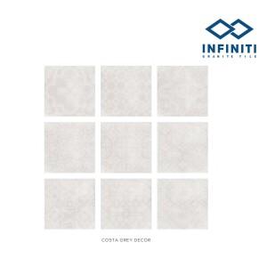 Granit Infiniti Granite Tile Costa Grey Decor / Dark Grey Decor 60x60