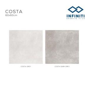 Granit Infiniti Granite Tile Costa Grey / Costa Dark Grey 60x60