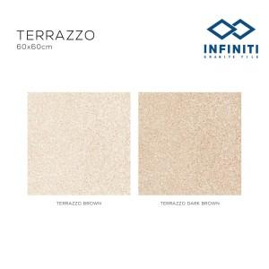 Granit Infiniti Granite Tile Terrazzo Brown / Dark Brown 60x60 cm