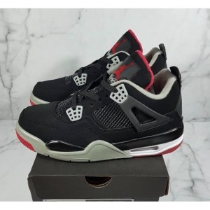 new product 1e4a0 4e186 Jual PREMIUM ORIGINAL Sepatu Basket Nike Air Jordan Retro 4 Black Red BRED  - DKI Jakarta - Fresh Banana | Tokopedia