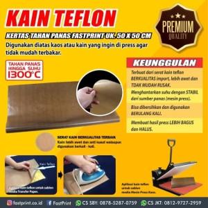 Teflon Sheet Kain Teflon tahan Panas Fast Print Ukuran 50X50CM