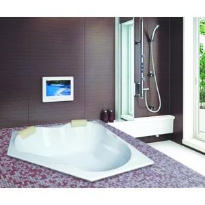 Bathtub Sudut Corner Vilary (Paket Jacuzzi+Washtafel Kabinet+Cermin)