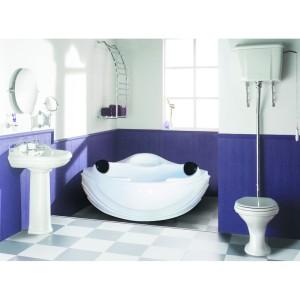 Bathtub Sudut Corner Ordelia (Paket Jacuzzi+Washtafel Kabinet+Cermin)